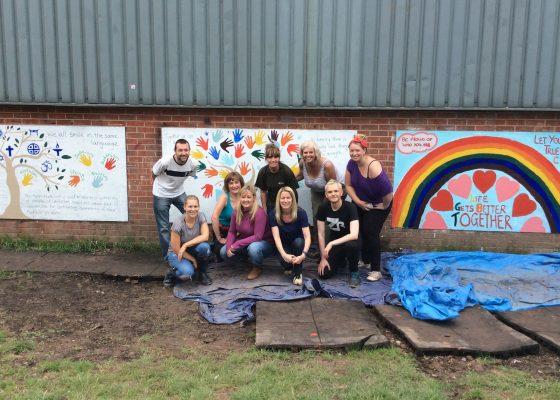 Celebrating diversity with new murals at Blacon Adventure Playground