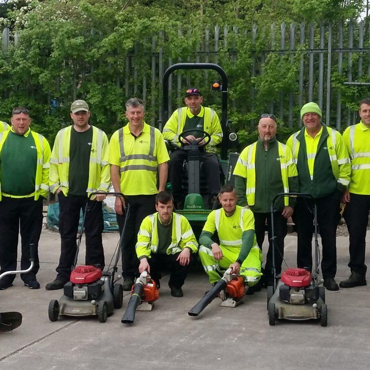 Winter grounds maintenance service underway